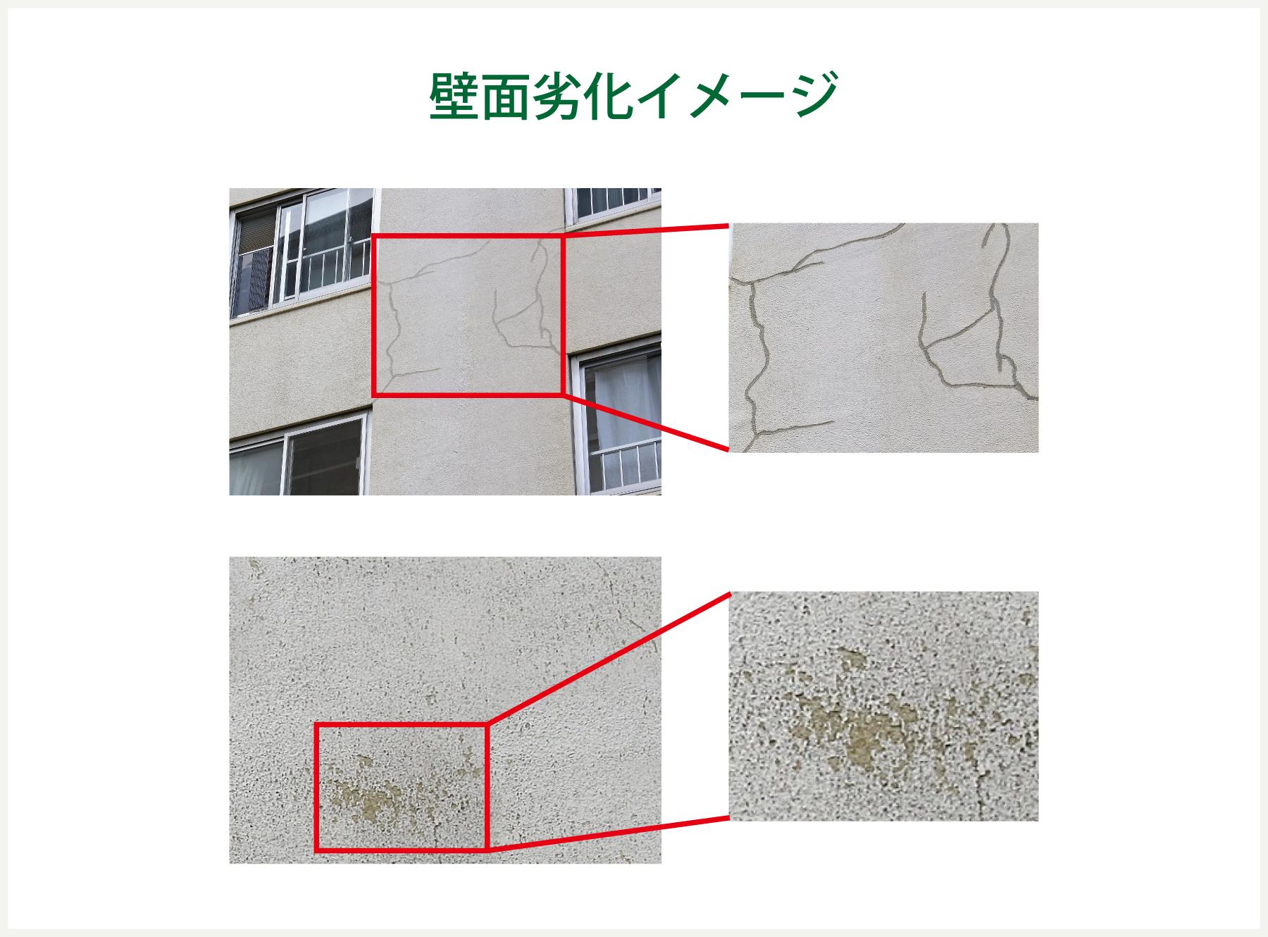 建造物の外壁劣化度診断