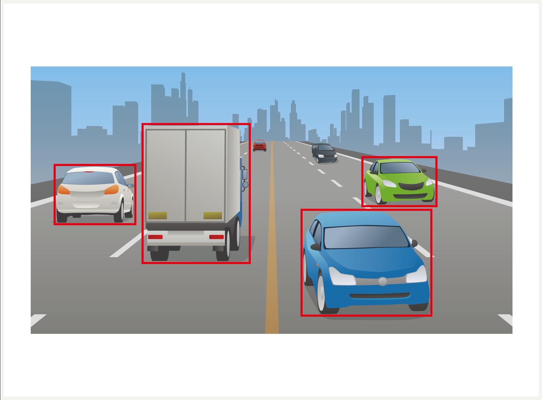 車載カメラ動画から車両識別・構造物識別
